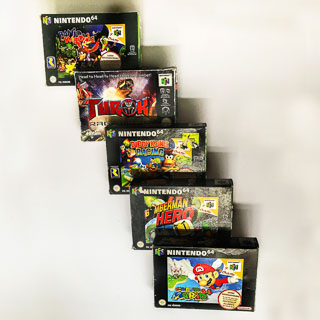 Nintendo 64: Spil i original emballage